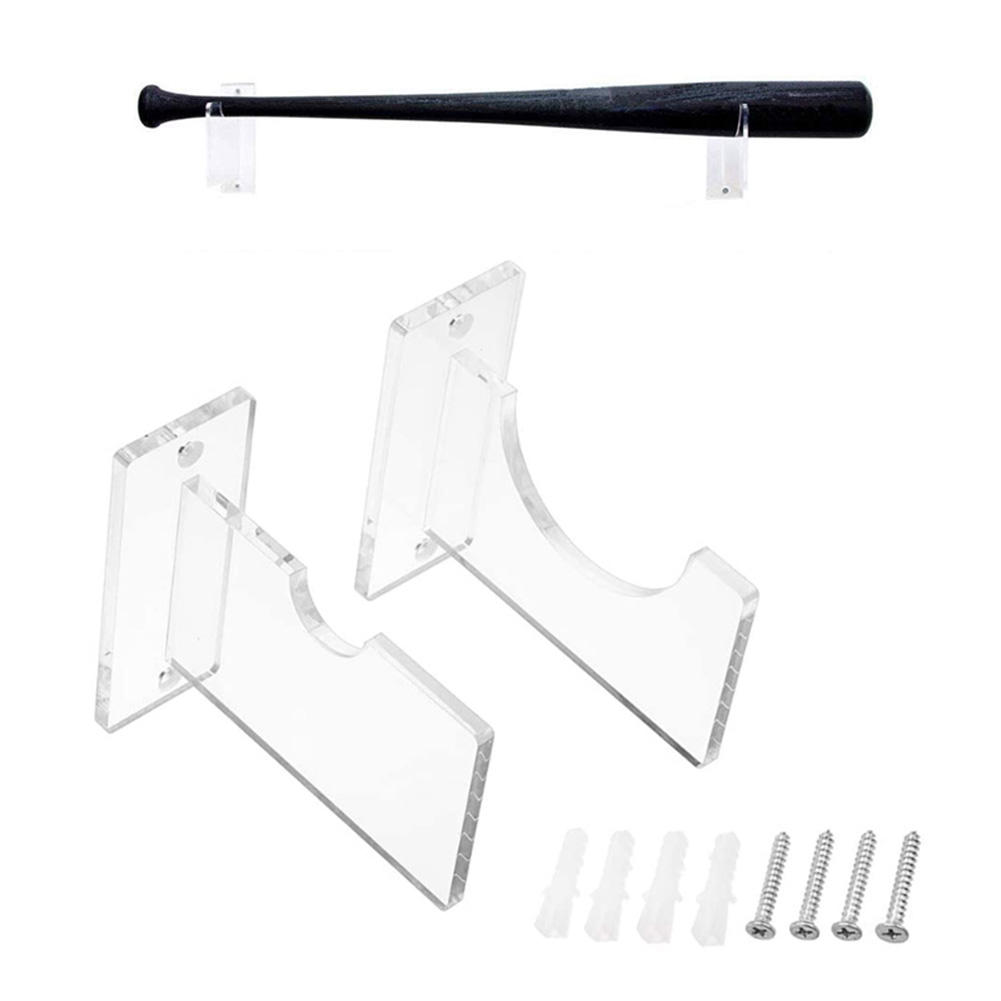 2PCS Bat Bracket Wall-mounted Multipurpose Softball Bat Display Stand