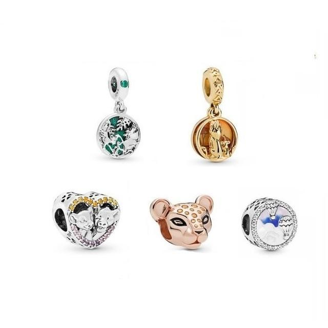 The Lion King style charms bead with pendant fit for pandora bracelet chain