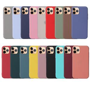For iPhone 12 TPU Case , Ultra Thin Matte Silicon Candy Color TPU Gel Case For iPhone 12 2020