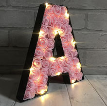 LED marquee flower light metal red letter for valentine's day