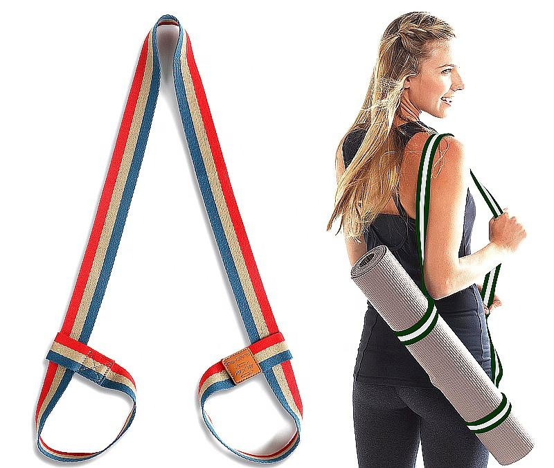 Promozione Gaiam Yoga Stuoia Fionda Facile Cinch Strap Carrier con Regolabile In Metallo D-Ring per la Donna