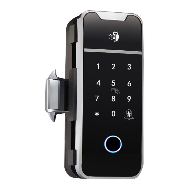 2020 New TTlock Fingerprint Glass Door Lock for both single and double glass doors with frame and frameless