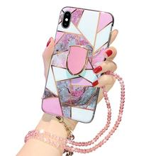 2020 Wholesale Geometric Creative Chain Holder Luxury Phone Case For Iphone 11 Pro X XS Max 7 8