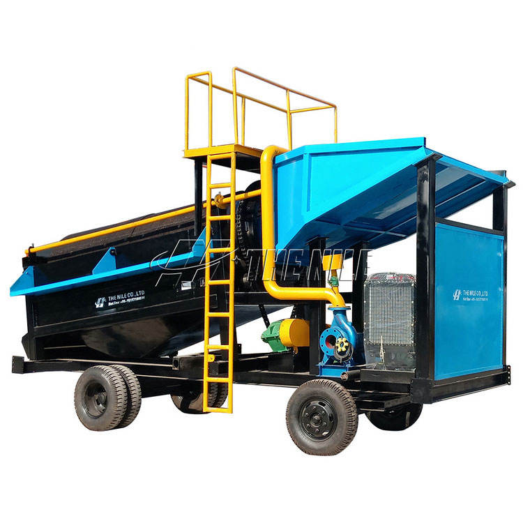 Portable Mobile Gold Trommel Gold Wash Plant Gold Mining Machine