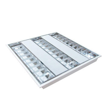 Moderne Kantoor 3X14 W T5 Louvre Verzonken Troffer Led Verlichting Armatuur Fitting Grille Lamp
