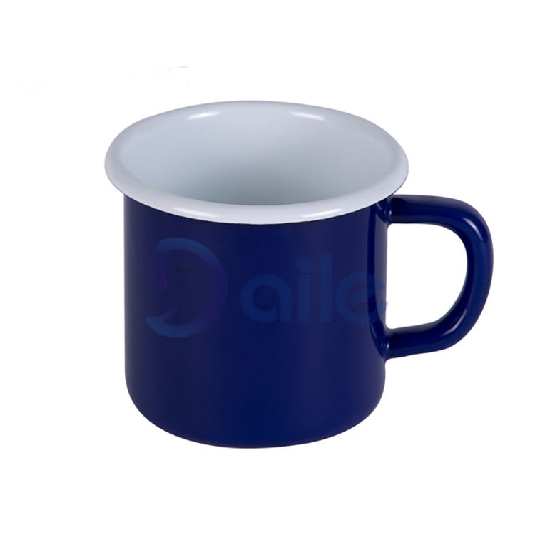 Contracted simple enamelware with blue color mug