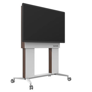 Loctek wooden motorized lift electric wall LCD LED TV movable height adjustable floor stand furniture for office use