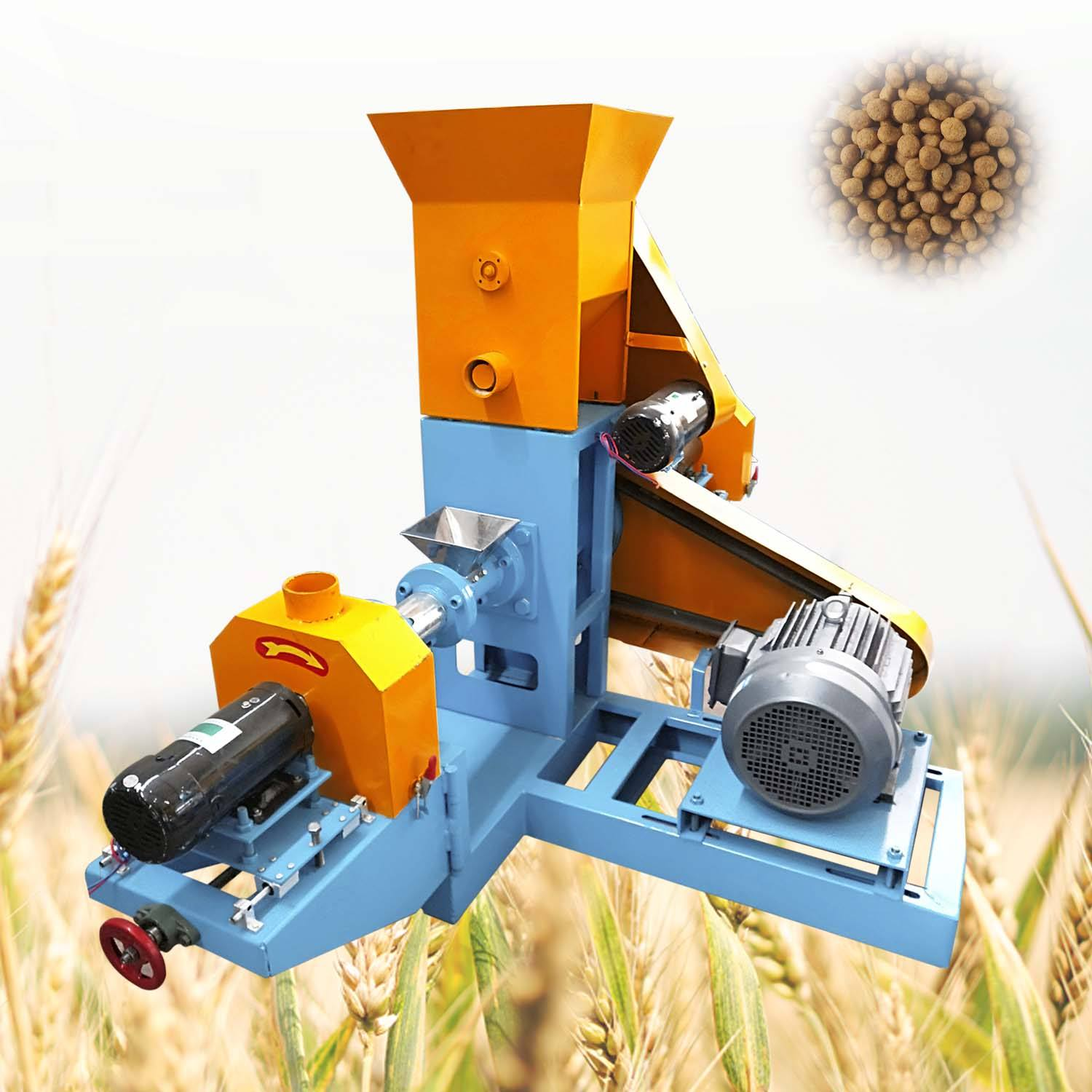 500kg/h floating fish feed pellet making machine low price floating meal pellet machine ornamental fish feed extruder