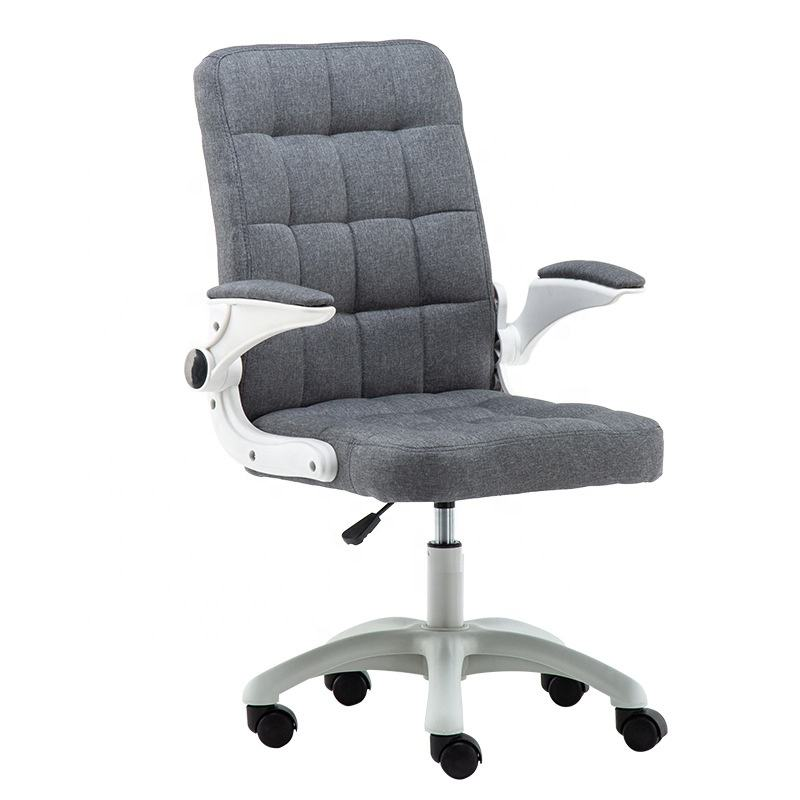 Fabric material boss rotating manager staff PU leather office chair pink white black gray