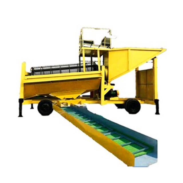 Gold Washing Rotary Compost Trommel Screen Top Soil from jinzun with Sluice Gold Extraction Machine