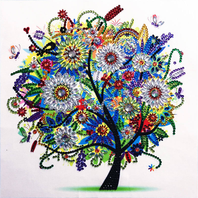 Wholesale 4 season tree special shaped Diamonds Painting Canvas Painting Art On Canvas
