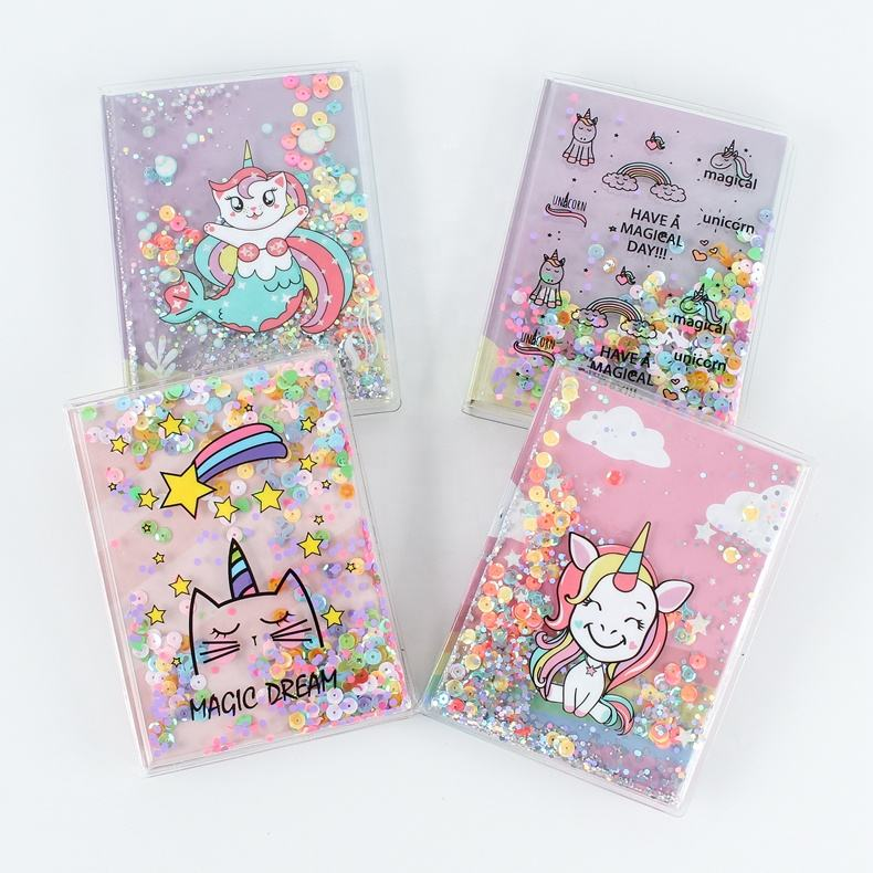 Wholesale 2019 new design Kawaii pvc cover A5 A6 unicorn diary notebook Cartoon notebook