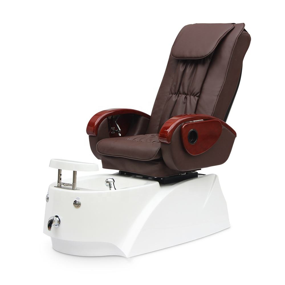 Wholesale Cheap Price Beauty Nail Salon Furniture Modern Pipeless Whirlpool Discharge Pump Foot Spa Massage Pedicure Chair
