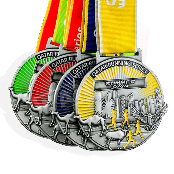 Manufacturer custom high quality metal 3D marathon sport medal