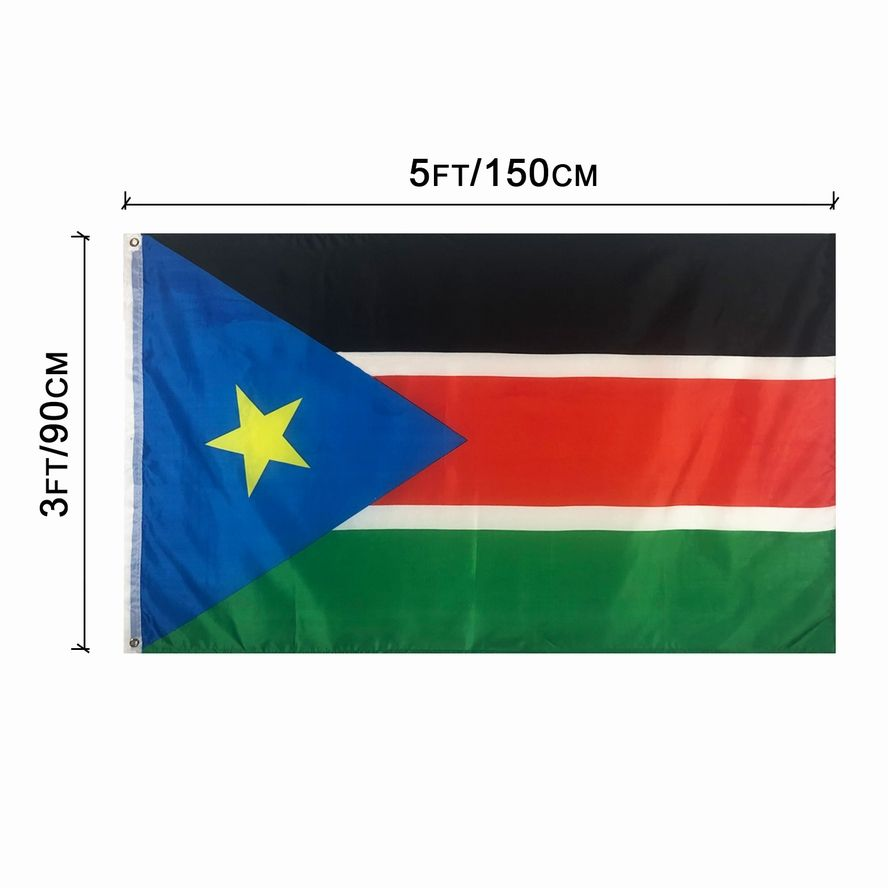 100% Polyester Country Flag Outdoor South Sudan Flag