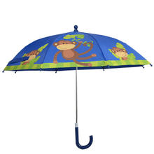 19*8K Children Cheap Cartoon Monkey Kid Umbrellas For Walmart