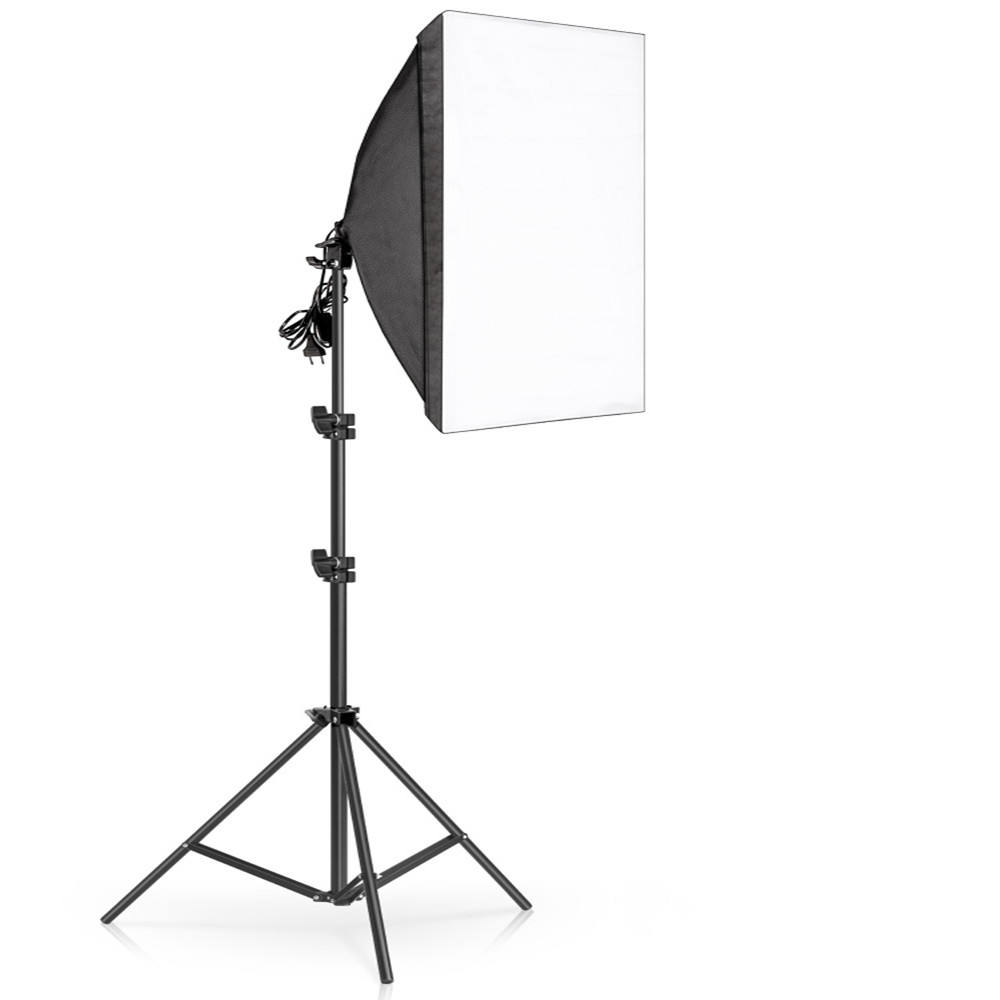 Photography Softbox Lighting Kits 50x70CM Professional Continuous Light System Soft box For Photo Studio Equipment