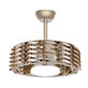 Modern Design New Arrival 3 Warranty Exhale Bladeless No Leaf LED Chandelier Acrylic Decorative Ceiling Fan With Light