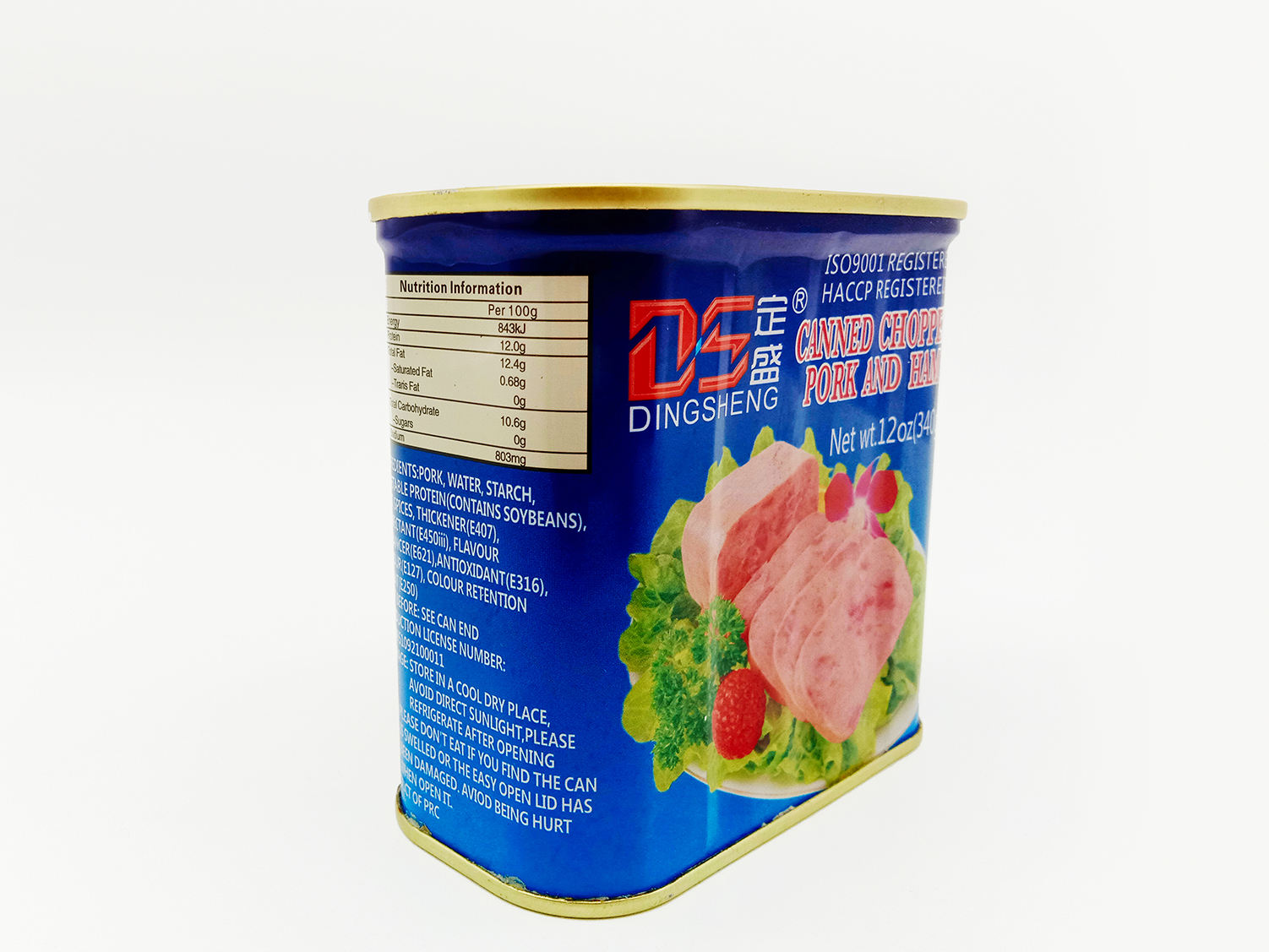 340g*24tins Canned Chopped Pork And Ham