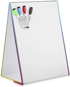 custom double sides foldable dry erase tabletop magnetic whiteboard with marker