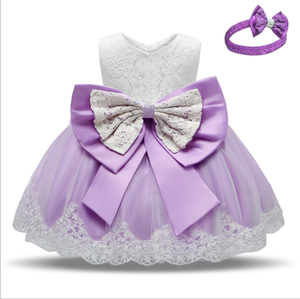Amazon hot baby princess dress 2020 baby one-year-old dress