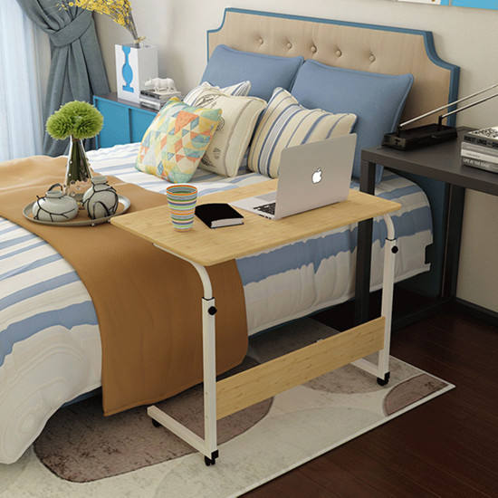 GuoFan 2020 Good Quality Adjustable Laptop Computer Table Mobile PC Notebook Stand Sofa Bed side Tables