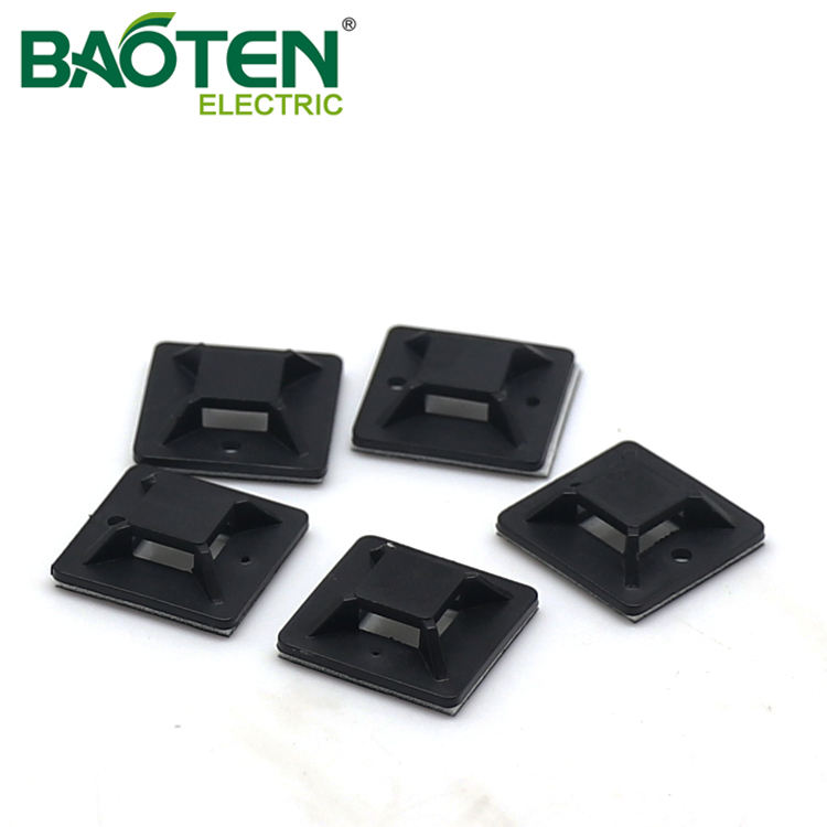 BAOTENG BT high quality plastic Cable Tie Mounting Base nylon wing arrowhead push Tie Mounts