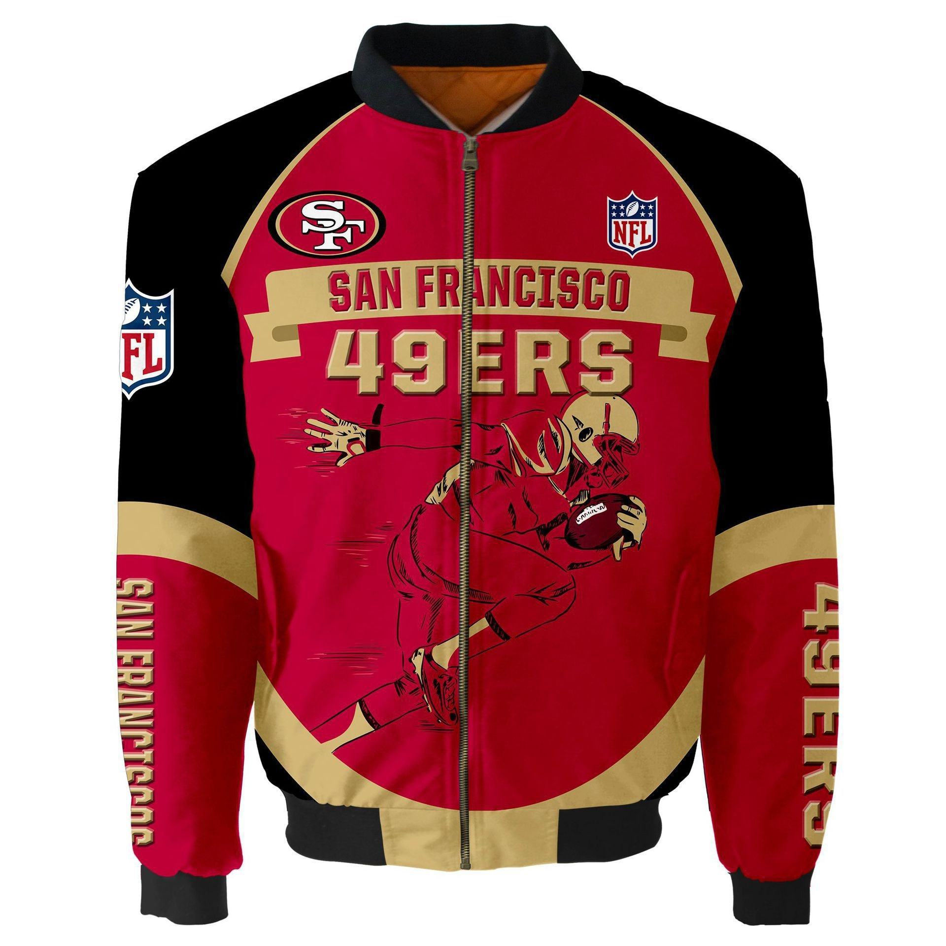 Wish Aliexpress sells NFL All-Star football sports jackets and cotton men's flying jackets on ebay GP2022831BK