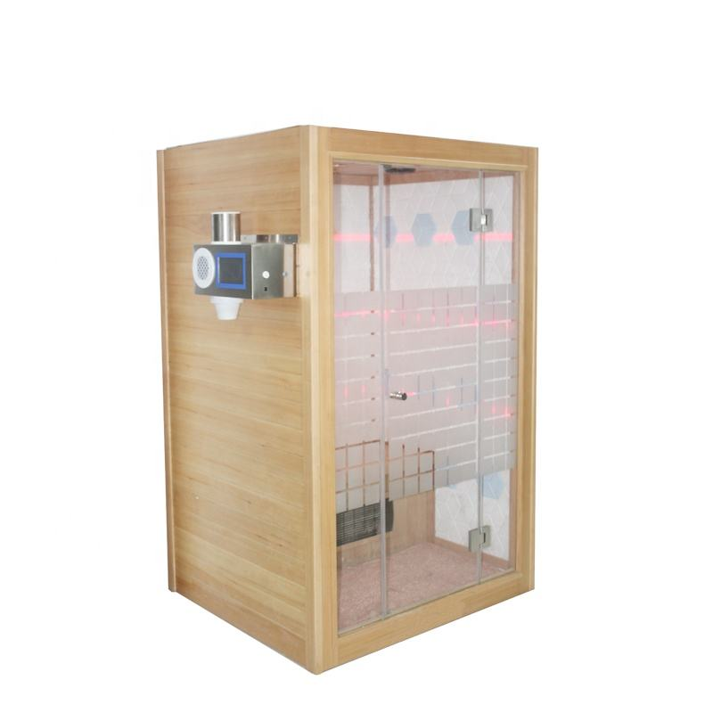 2 Person Salt Bricks Far Infrared Sauna Room With Salt Generator Used For Salt Therapy