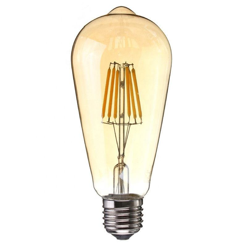 ST64 4W Decoratieve Dimbare LED Lamp E27 220V Vintage Filament Lamp