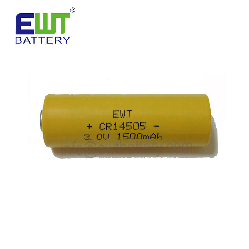 3v batteria al litio aa cr14505 1500mAh Al Litio biossido di manganese batteria per Smart metri