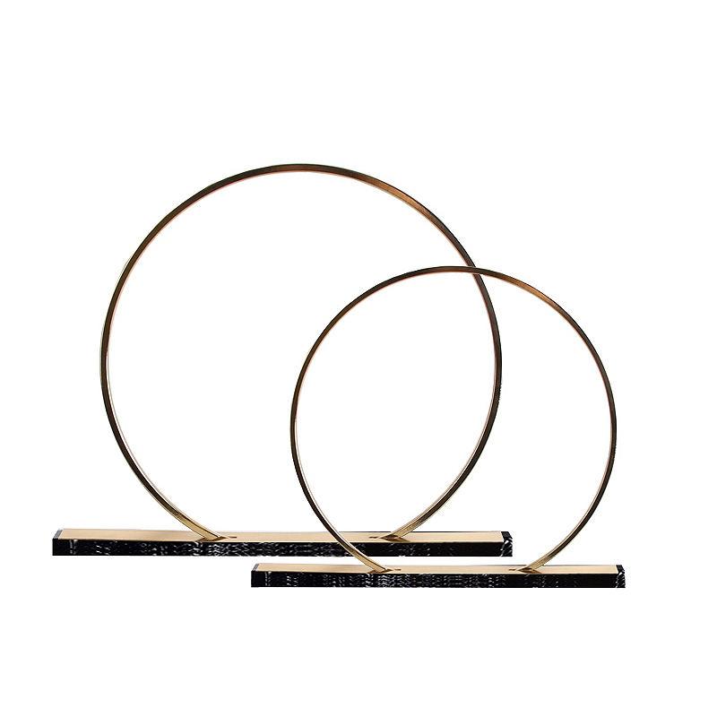 Oficina moderna escritorio adorno abstracto de Metal de hierro en forma de círculo <span class=keywords><strong>casa</strong></span> Oficina decoración del hogar