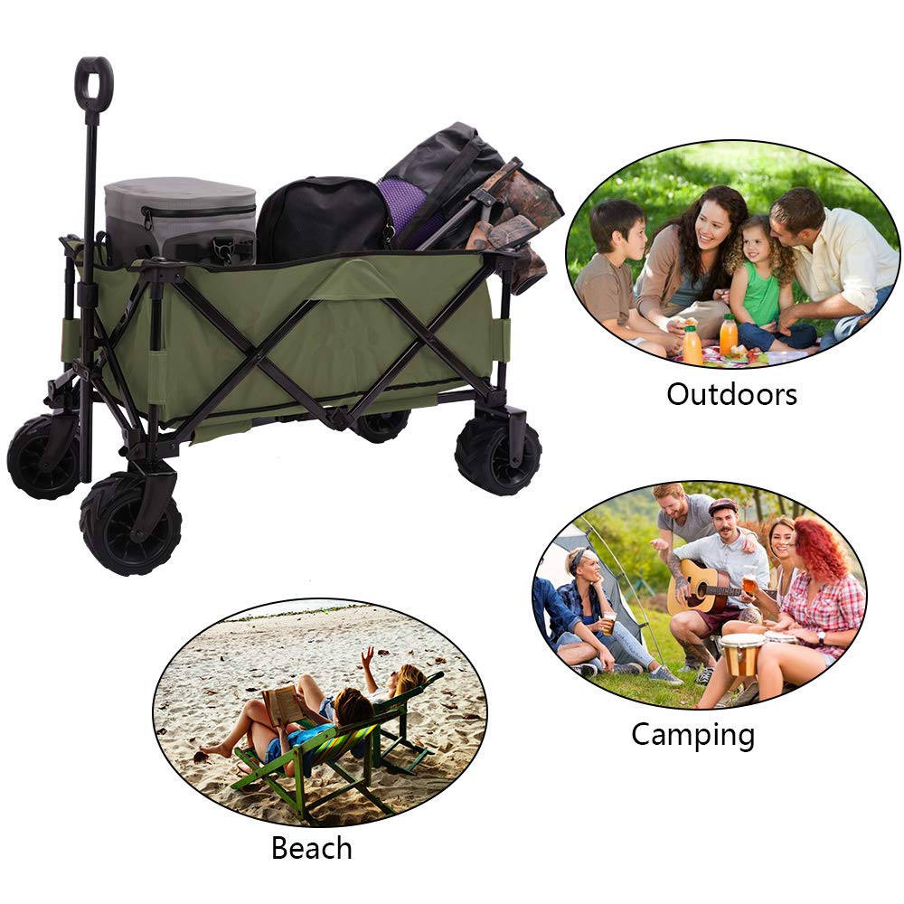 Leisure tables Supermarket shopping foldable wagon 360 - degree sand wheels tool beach carts