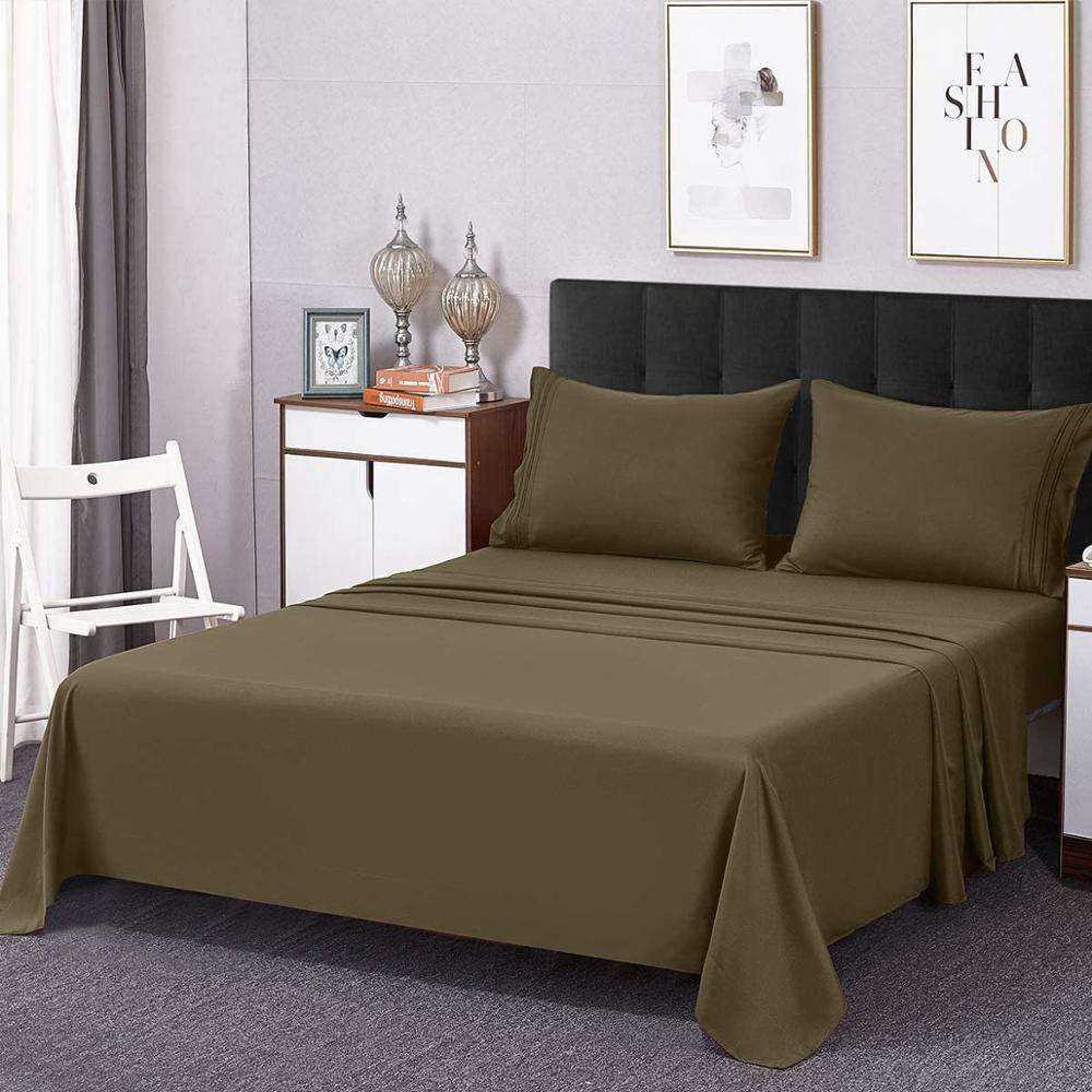 Hotel Luxury Bed Sheets Extra Soft Easy Fit Breathable Wrinkle Free sheet set