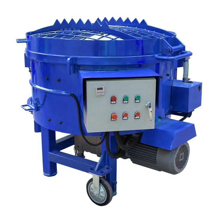With comfortable feeding height 250kg pan cement refractory mixer machine with wheels