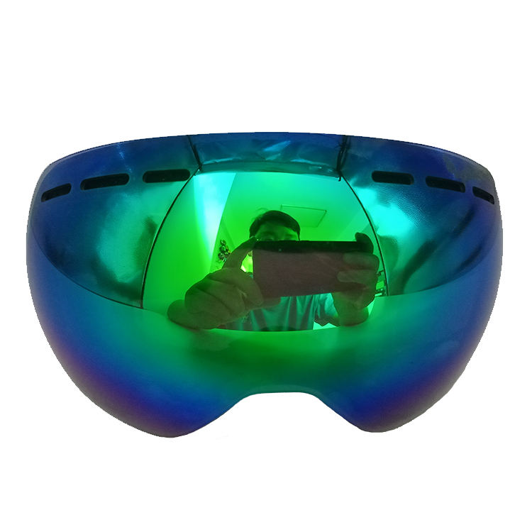 Custom anti fog UV400 ski goggles with detachable lenses