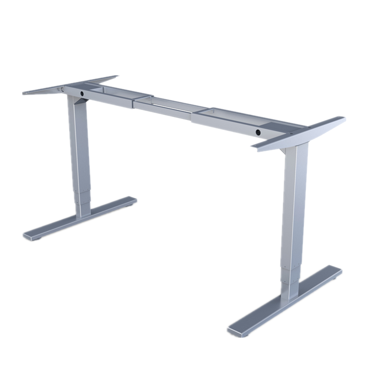 2 legs 3 stage electric adjustable sit stand desk with different lift column