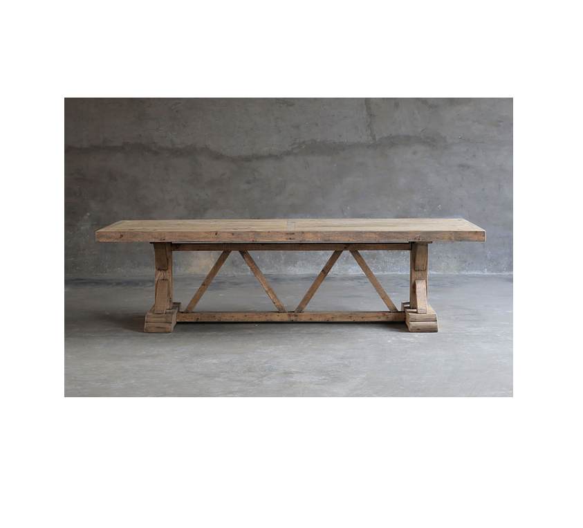 Reclaimed elm dinning table