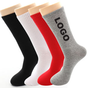HJ-II-0450 blank socks white 100 cotton sports socks wholesale white men socks