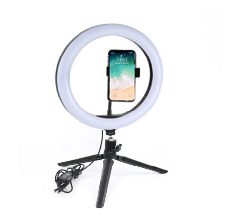 Ring Led Light Tripod MASSA 10 Inch Led Stand Dimmable Studio Cosmetic Selfie Lamp Fill Camera Adapter Ring Light Photography With Tripod