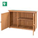 Outdoor Wooden Storage Shed Utility Tools Organizer Garden Lawn