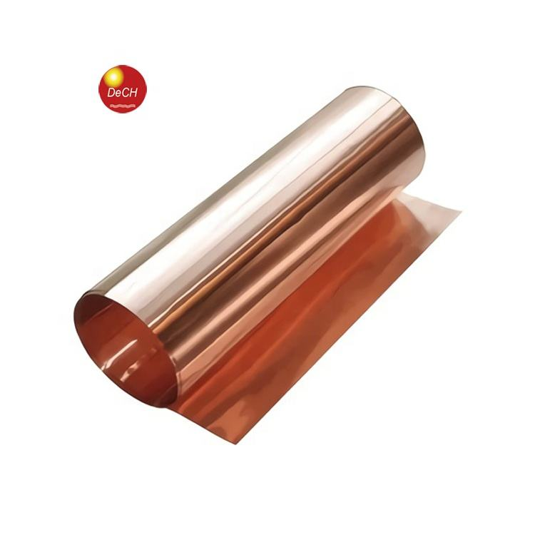 600mm Width 0.05mm Thickness Copper Thin Pure Copper Tape Foil Rolls