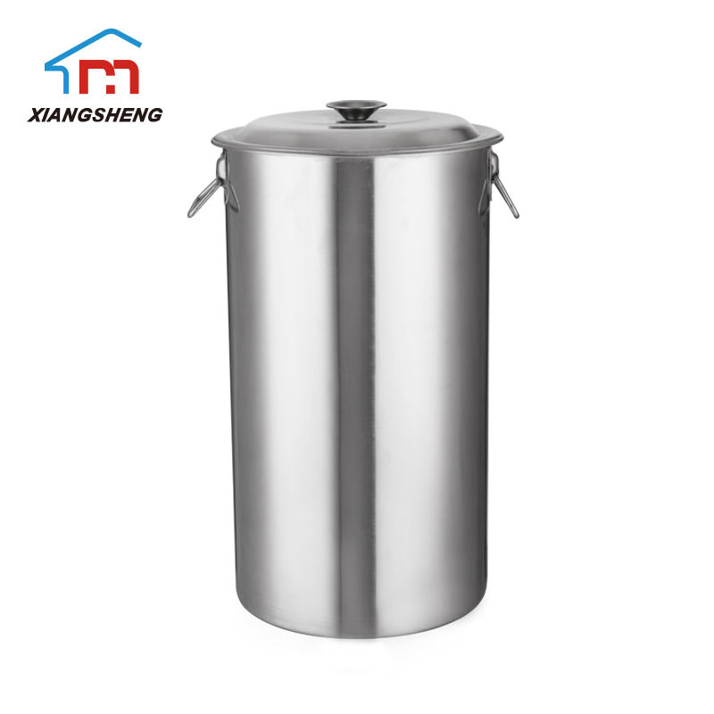 Best type of 20l metal ice tin bucket stainless steel double wall with iron hoop