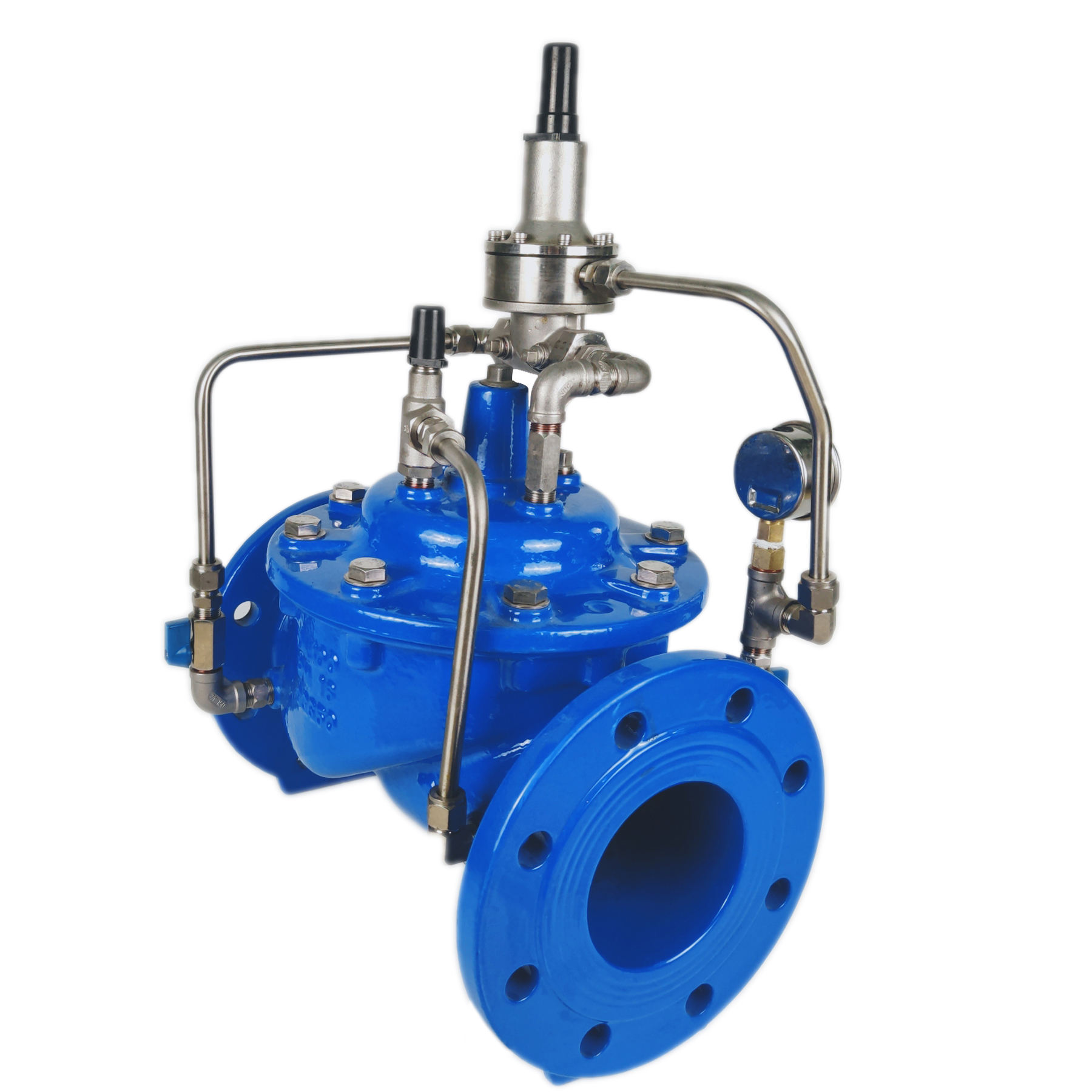 TOP best price Ductile iron flow control valve caliber 4 inches PN16 low pressure valve