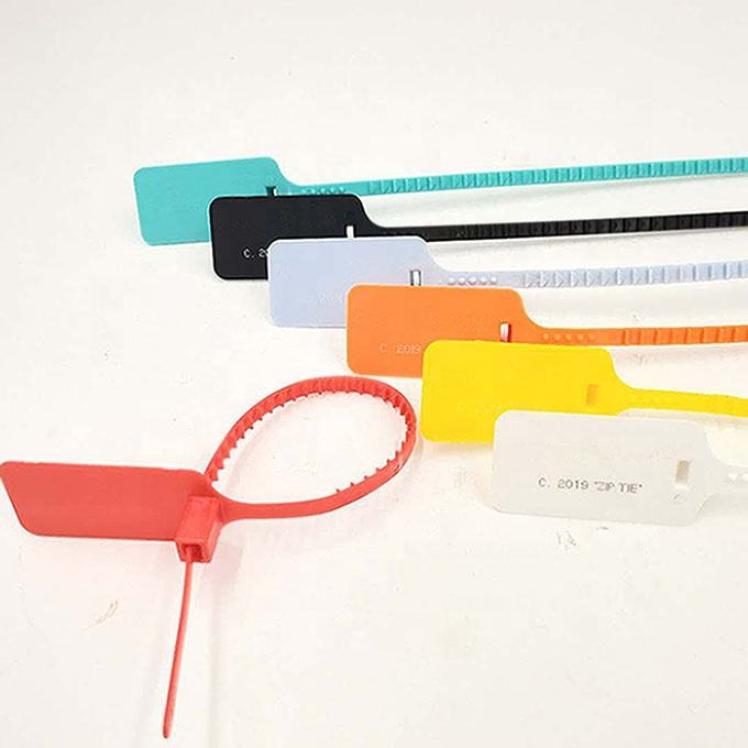 Hot Sale Blue Color plastic cable tag With Custom Logo, Barcode, Number,name