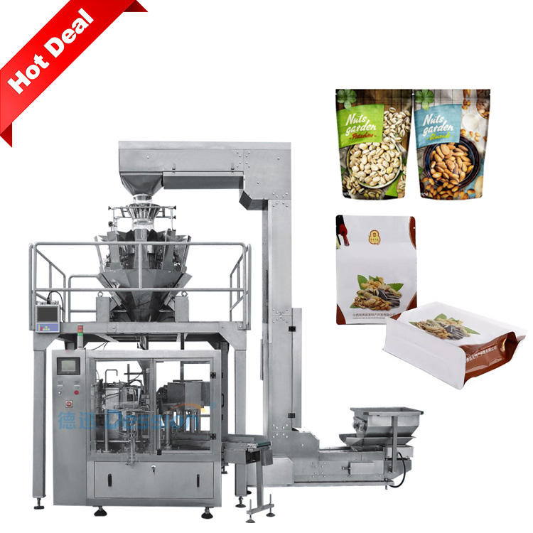 Automatic nuts and dry fruit pouch packing machine for roasted peanut and cashew nut packing machine