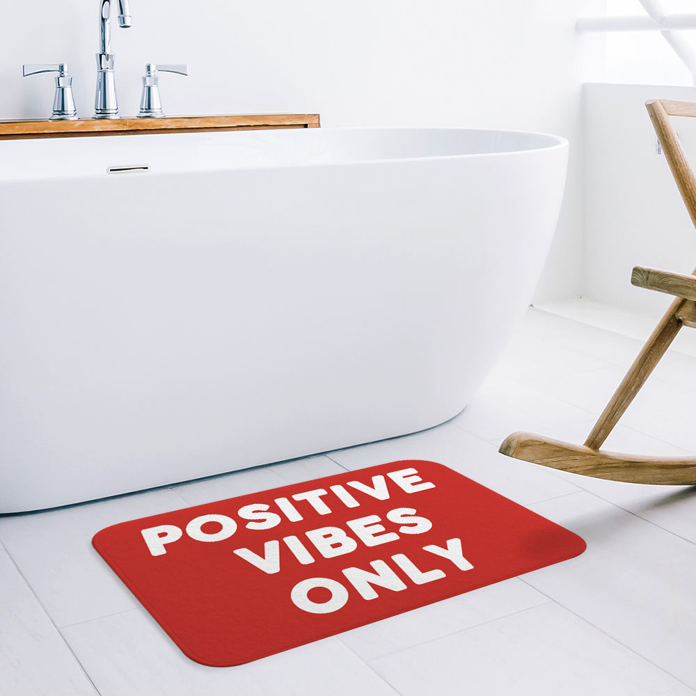 Indoor Water Absorbs Custom Printed Anti-Slip Mats with Positive Vibes Only