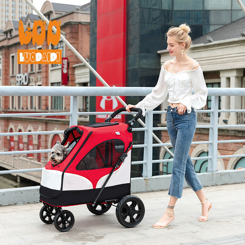 Hot selling pet stroller new style 3 wheel pet travel trolley for large dog BL06A