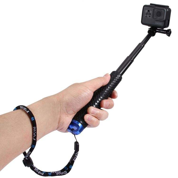 New Drop Shipping PULUZ Extendable Handheld Pole Monopod for GoPros, Xiaoyi and other Action Cameras, Length: 19-49cm