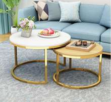 Tea table small round table boreal Europe contracted  simple side home use side desk square